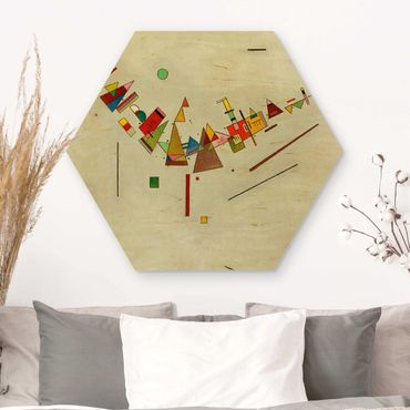 Esagono in legno - Wassily Kandinsky - Angular Momentum