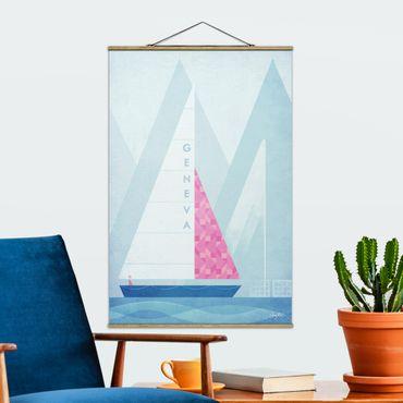 Foto su tessuto da parete con bastone - Poster di viaggio - Genova - Verticale 3:2