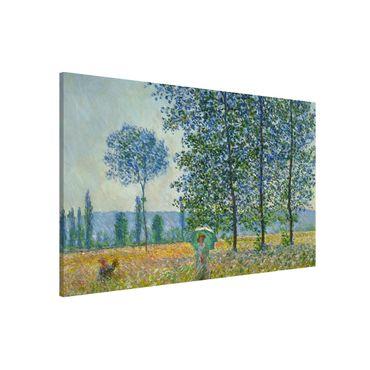 Lavagna magnetica - Claude Monet - campo in primavera - Formato orizzontale 3:2