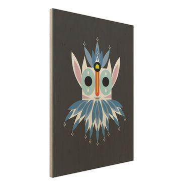 Stampa su legno - Collage Mask Ethnic - Gnome - Verticale 4:3