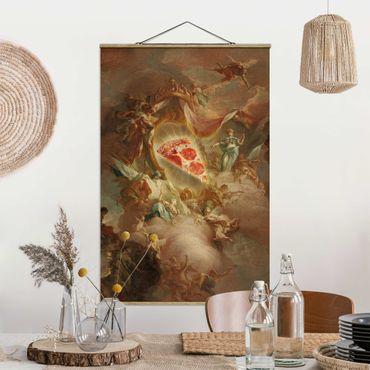 Foto su tessuto da parete con bastone - Santa Pizza - Verticale 3:2