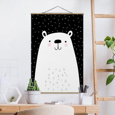 Foto su tessuto da parete con bastone - Zoo con i modelli - Polar Bear - Verticale 3:2