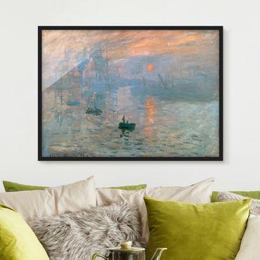 Poster con cornice - Claude Monet - Impression - Orizzontale 3:4