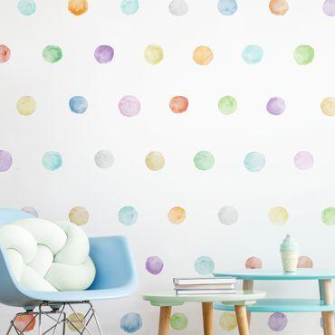 Adesivo murale - Punti Acquarello Color pastello