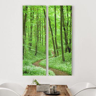 Stampa su tela 2 parti - Romantic Forest Track - Pannello