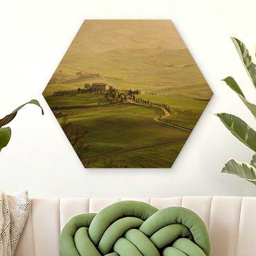 Esagono in legno - Chianti Toscana
