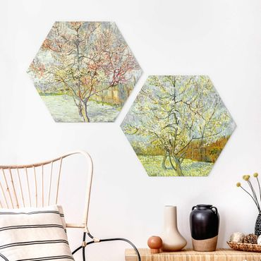 Esagono in forex - Vincent Van Gogh - Blooming Peach alberi del giardino