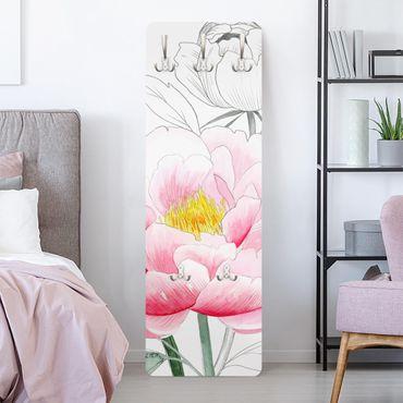Appendiabiti - Disegno Pink Peony I