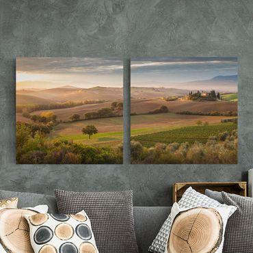 Stampa su tela 2 parti - Olive Grove In Tuscany - Quadrato 1:1