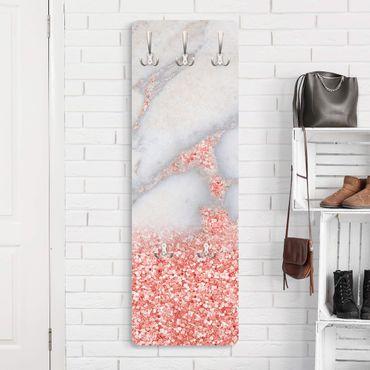 Appendiabiti - Ottica marmo con Rosa Confetti