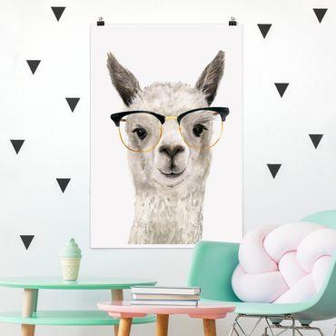 Poster - Hip Lama con i vetri I - Verticale 3:2