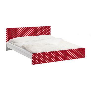 Carta adesiva per mobili IKEA - Malm Letto basso 140x200cm No.DS92 Dot Design Girly Red
