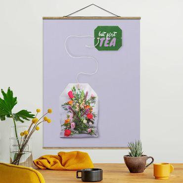 Foto su tessuto da parete con bastone - Tea Flower - Verticale 4:3
