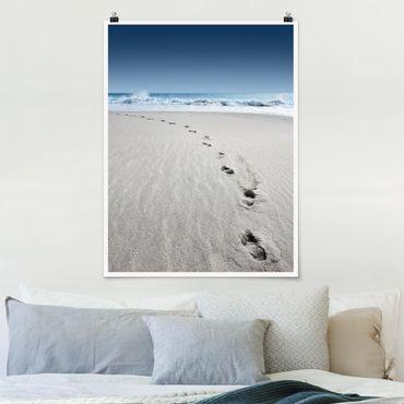 Poster - Tracce nella sabbia - Verticale 4:3
