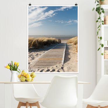 Poster - Spiaggia del Mar Baltico - Verticale 4:3