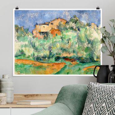 Poster - Paul Cézanne - casa sulla collina - Orizzontale 3:4