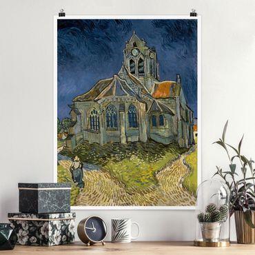 Poster - Vincent Van Gogh - Chiesa di Auvers-sur-Oise - Verticale 4:3