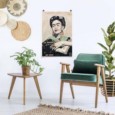 Poster - Frida Kahlo - Collage No.4 - Verticale 3:2