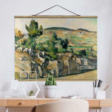 Foto su tessuto da parete con bastone - Paul Cézanne - Paesaggio collinare - Orizzontale 3:4