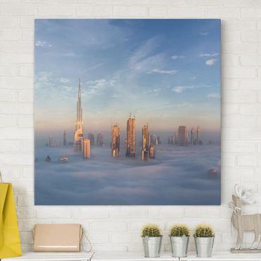 Stampa su tela - Dubai Sopra Le Nuvole - Quadrato 1:1