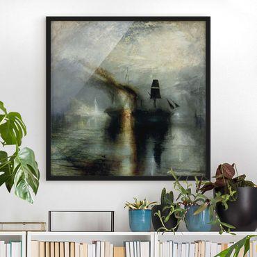 Poster con cornice - William Turner - Peace - Quadrato 1:1