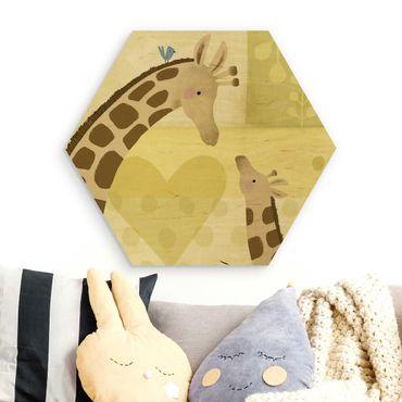 Esagono in legno - Io e mia madre - Giraffe