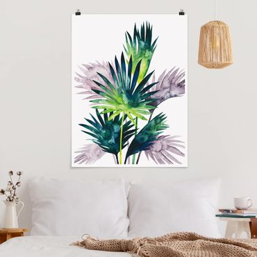 Poster - Exotic Foliage - Palma - Verticale 4:3