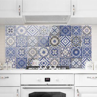 Paraschizzi in vetro - Mediterranean Tile Pattern