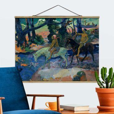 Foto su tessuto da parete con bastone - Paul Gauguin - The Flight - Orizzontale 3:4