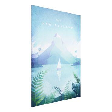 Stampa su alluminio - Poster Viaggi - Nuova Zelanda - Verticale 4:3