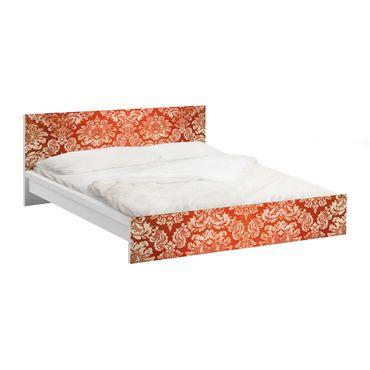 Carta adesiva per mobili IKEA - Malm Letto basso 140x200cm Baroque wallpaper