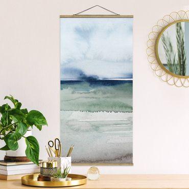 Quadro su tessuto con stecche per poster - Ocean Waves I - Verticale 2:1