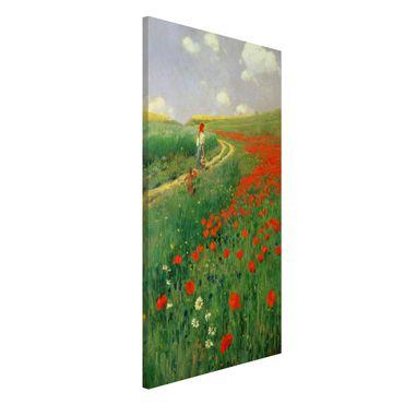Lavagna magnetica - Pál Szinyei-Merse - Paesaggio estivo con una fioritura di papavero - Formato verticale 4:3