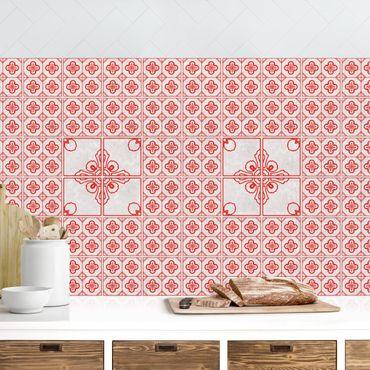Rivestimento cucina - Motivo piastrelle Porto rosso