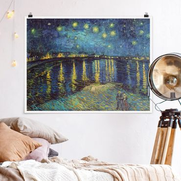 Poster - Vincent Van Gogh - Notte stellata sul Rodano - Orizzontale 3:4
