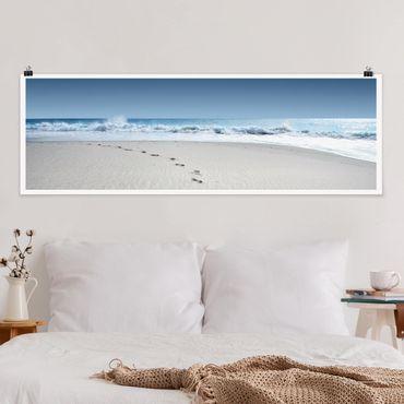 Poster - Tracce nella sabbia - Panorama formato orizzontale
