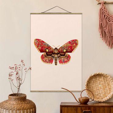 Foto su tessuto da parete con bastone - Vintage Moth - Verticale 3:2