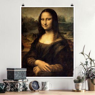 Poster - Leonardo Da Vinci - Monna Lisa - Verticale 4:3