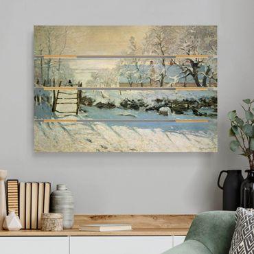 Stampa su legno - Claude Monet - La gazza - Orizzontale 2:3