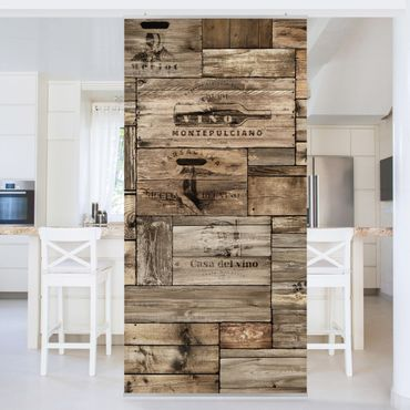 Tenda a pannello - Vintage Wooden Boxes - 250x120cm