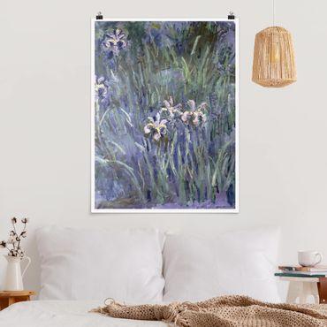 Poster - Claude Monet - Iris - Verticale 4:3