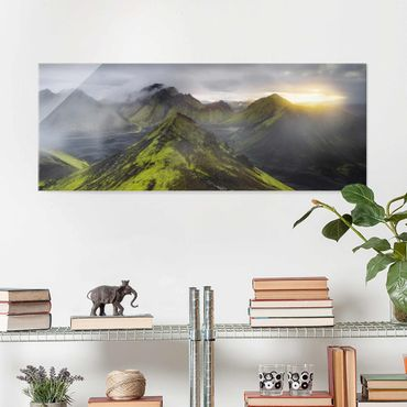 Quadro in vetro - Storkonufell Iceland - Panoramico