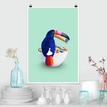 Poster - Jonas Loose - Colazione Con Toucan - Verticale 3:2