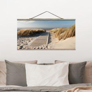 Foto su tessuto da parete con bastone - Spiaggia del Mar Baltico - Orizzontale 1:2