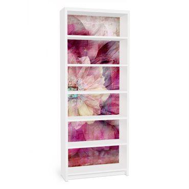 Carta adesiva per mobili IKEA - Billy Libreria - Grunge Flower
