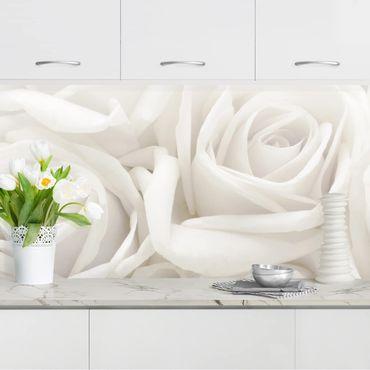 Rivestimento cucina - Rose Bianche