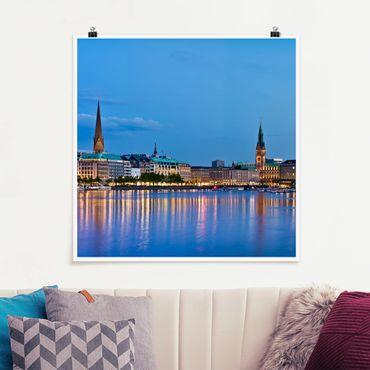 Poster - Amburgo orizzonte - Quadrato 1:1