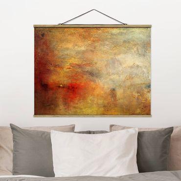 Foto su tessuto da parete con bastone - Joseph Mallord William Turner - Tramonto sul lago - Orizzontale 3:4