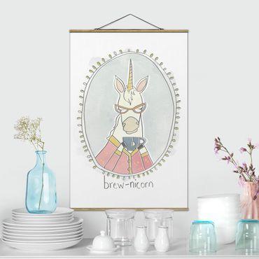 Foto su tessuto da parete con bastone - caffeina Unicorn - Verticale 3:2