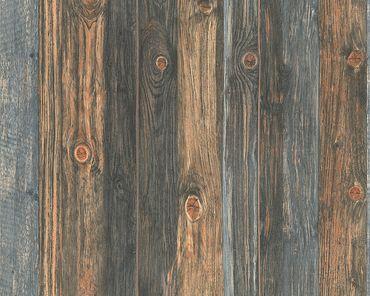 Carta da parati - A.S. Création Best of Wood`n Stone 2nd Edition in Beige Marrone Grigio
